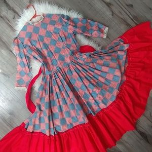 Vintage Rockabilly circle square dance dress